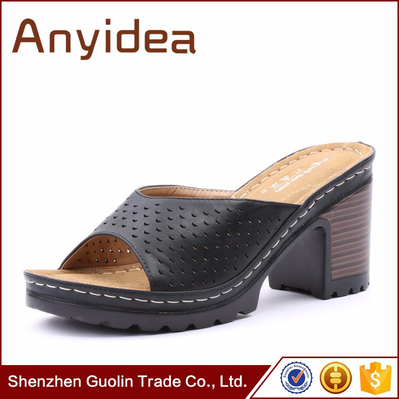 ladies leather flat shoes slippers for women ladies flat high heel <strong>sandal</strong>