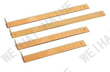 Tournament fish measuring board ruler gold anodized for Fish measuring board