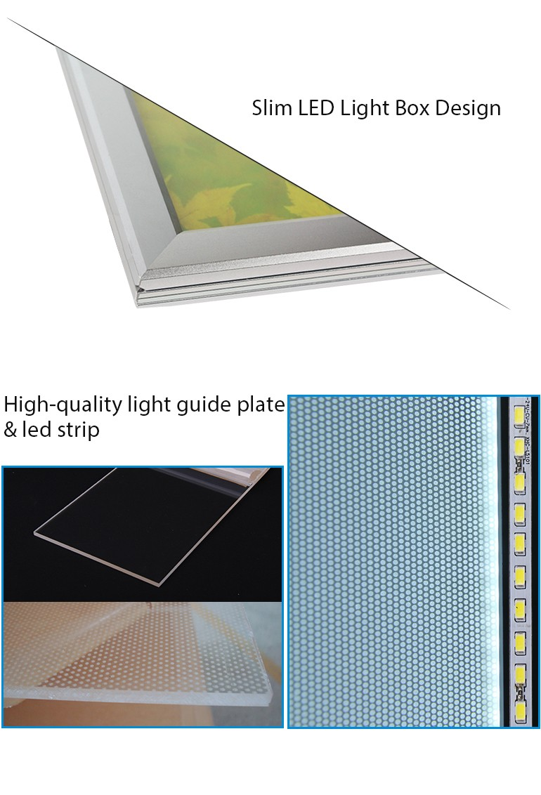 Slim box led light picture frame for advertising