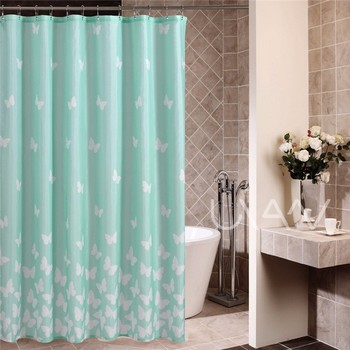 2017 High Quality Blue White Butterfly Shower Curtain Buy Waterproof Shower Curtain High