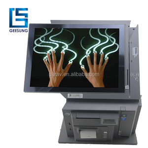 2018 True flat screen all-in-one POS system/thermal perinter, MSR,scanner Integrated Touch POS