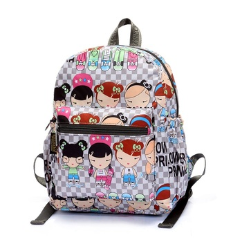 Custom printing baby boys girls cute blue book bag cartoon waterproof  backpack cute kids school bags 48f57b8f96