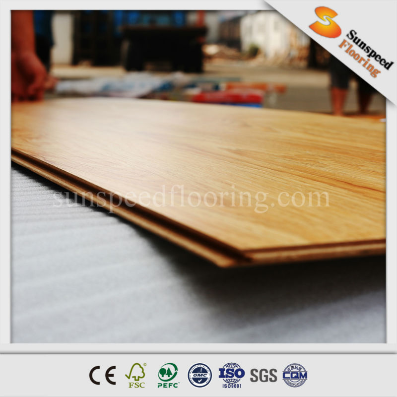 scratch resistant 8mm ac4 embossed wood laminated flooring