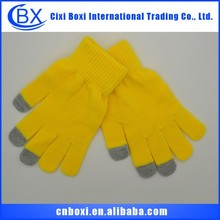 Continued hot high quality skid resistance acrylic glove,touch screen gloves winter glove igloves
