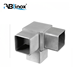 3 Way 90 Degree Corner Stainless Steel Flush Joiner Fit Square Pipe Connector