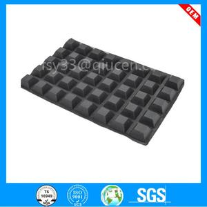 Self-Adhesive Rubber Feet-Door & Drawer Cabinet Furniture Bumpers-Black cube