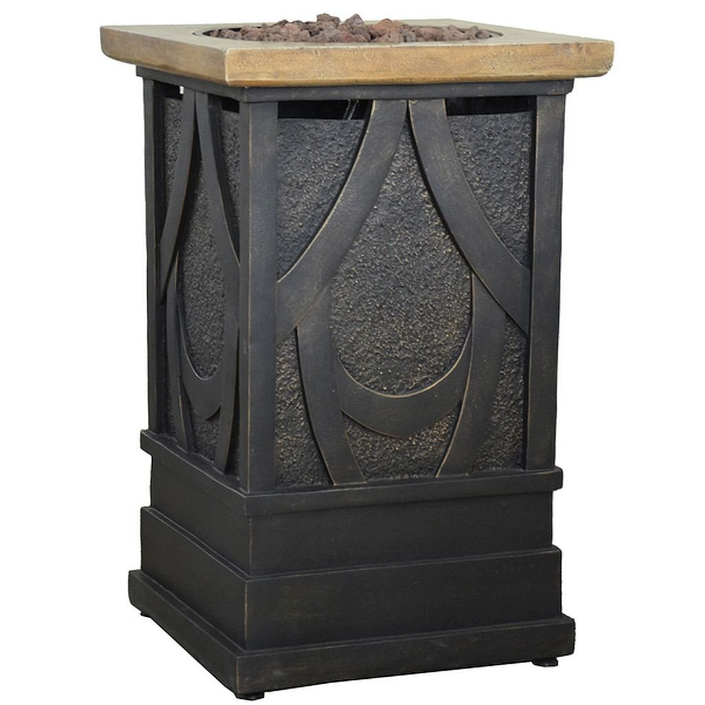 Gas Fire Column, The Lava Rock And Metal Accenting Highlight The Piece, Which Uses A 20 Pound Propane Fuel Tank Competing Marketplace Offers
