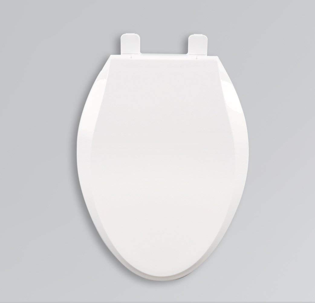 Toilet Seat Universal Type V Toilet Slow Down Silent Thick Cover Antibacterial,White-4636cm