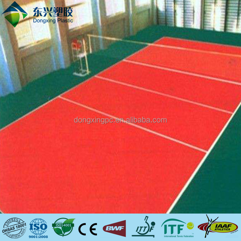 Volleyball Court Used PVC sports Flooring