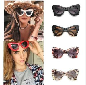 Vintage Goggles Cat Eye PC Frame Women Designer Fashion Sunglasses