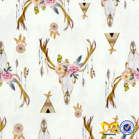 Cute Many Color Deer Printed Pattern Design Fabric Textile Wholesale Clothes China Suppliers Ployester Fabric