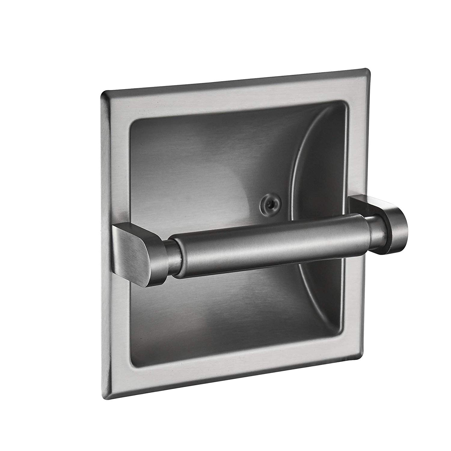 Get Quotations Junsun Brushed Nickel Recessed Toilet Paper Holder Tissue Roll All Stainless Steel Construction