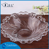 Elegant clear unique shallow glass bowl lace glass plate