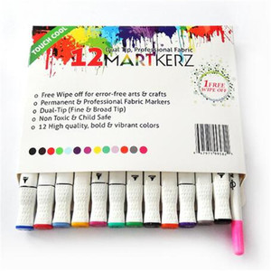 Double Headed Fabric Markers Washable/Permanent Textile Pen Art Marker Sets