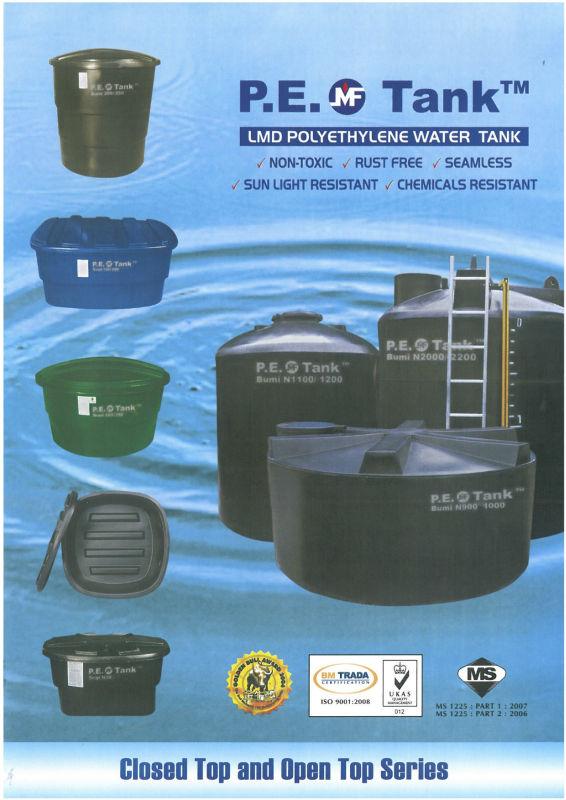 Mui Fatt Pe Cold Water / Chemical Storage Tank - Buy Pe Tank,Pe ...