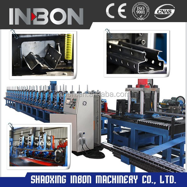 High Speed Pallet Rack Roll Forming Machine,Fully Automated Good Quality Rollforming <strong>Line</strong> With Servo Punching