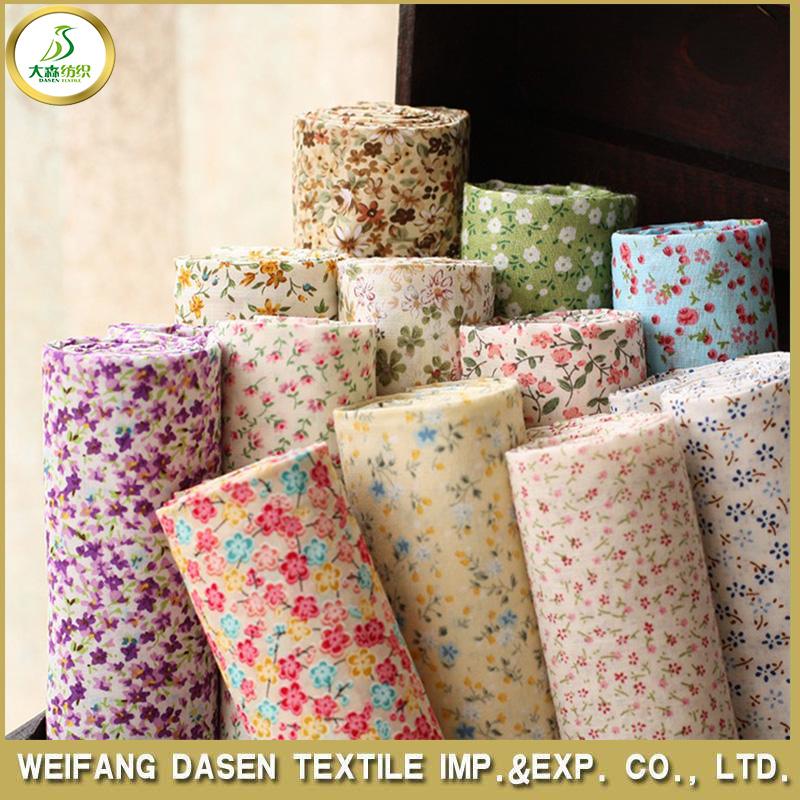 Bella 100% tessuto di cotone stampato con il disegno del fiore