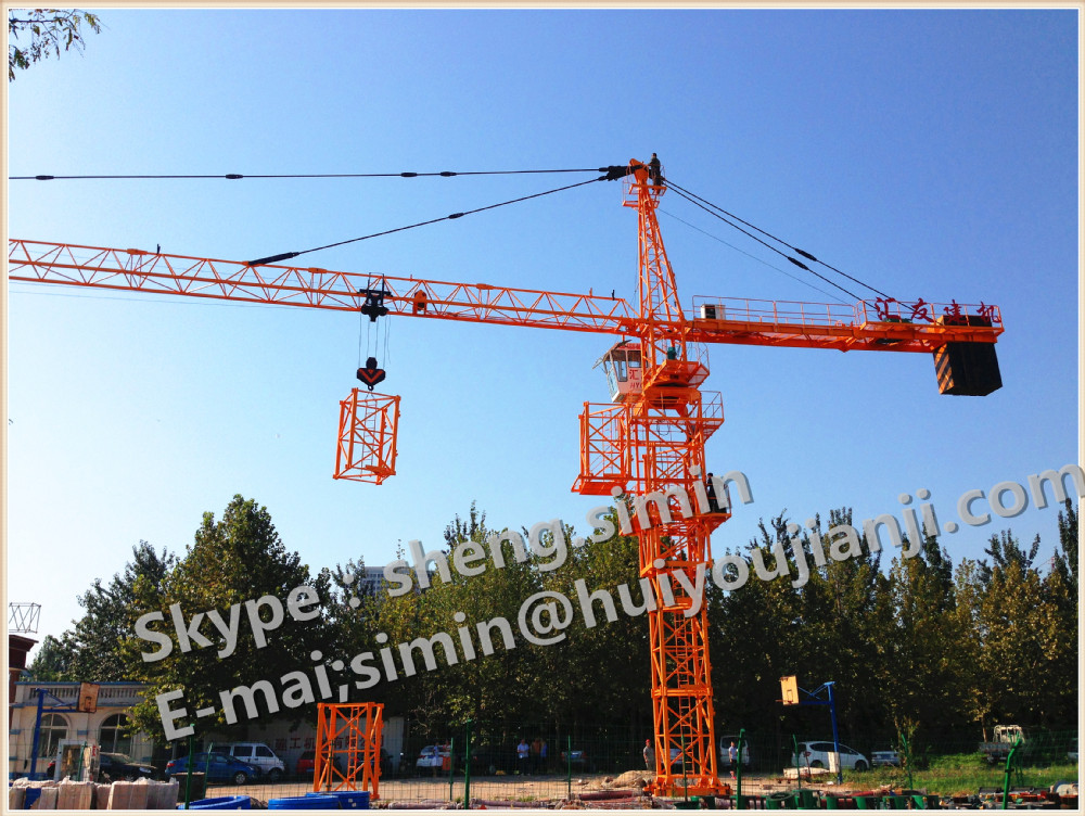QTZ80(5612)jib lubbing mechanism shandong self climbing tower crane