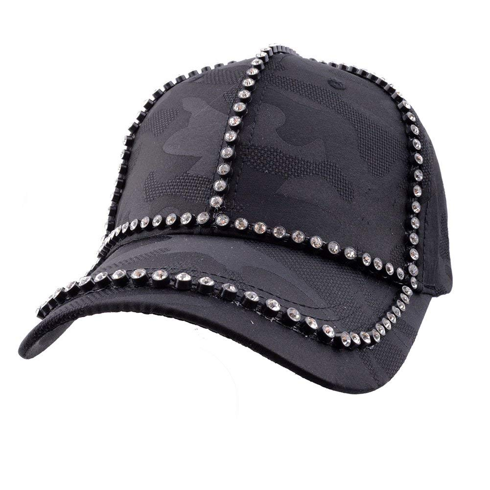 c1d55660412 Get Quotations · Elonmo Mesh Womens Baseball Cap Rhinestone Bling Quick Dry  Hats Adjustable