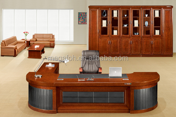 Luxurious Office Furniture Design President Chairman Ceo Desk For Sale Foh K3