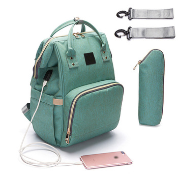 New Design Multifunctional Large Mummy Bag Backpack Stylish Wholesale USB Charging Port Diaper Bags