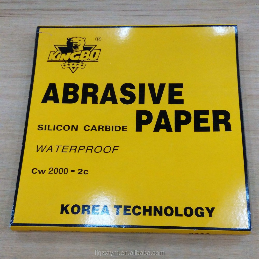 Silicon carbide Wet abrasive paper for sanding use