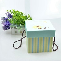Custom coated paper lid and base box for soap with handling /paper gift box for handmade soap
