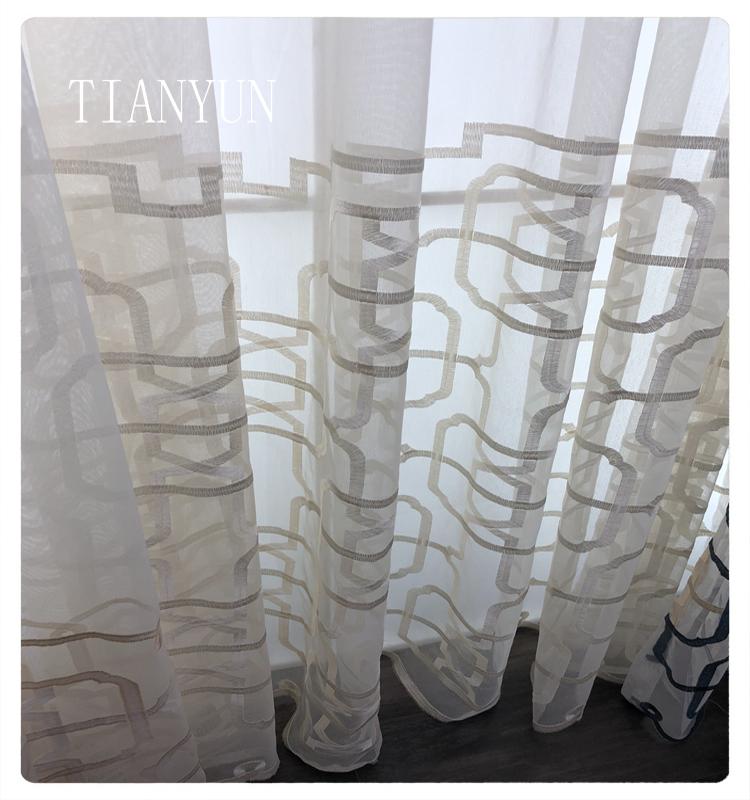 Beliebte Chenille Stoff 100 Polyester Valance Kaffee Vorhang