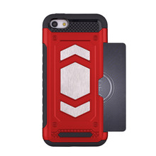2in1 TPU + PC magneet mobiele telefoon back cover voor <span class=keywords><strong>iphone</strong></span> <span class=keywords><strong>5</strong></span> <span class=keywords><strong>case</strong></span> met card slot