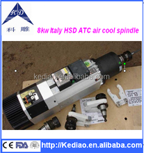 8kw Italy HSD ATC air cool spindle motor