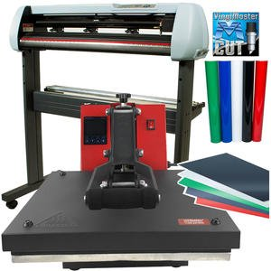 "USCutter Bundle: 34"" SC2 Vinyl Cutter + 15x15 Heat Press Machine Htv Sign Vinyl"