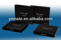 2013 Alibaba luxury black book style EVA electronic packaging box with magnet & customized logo