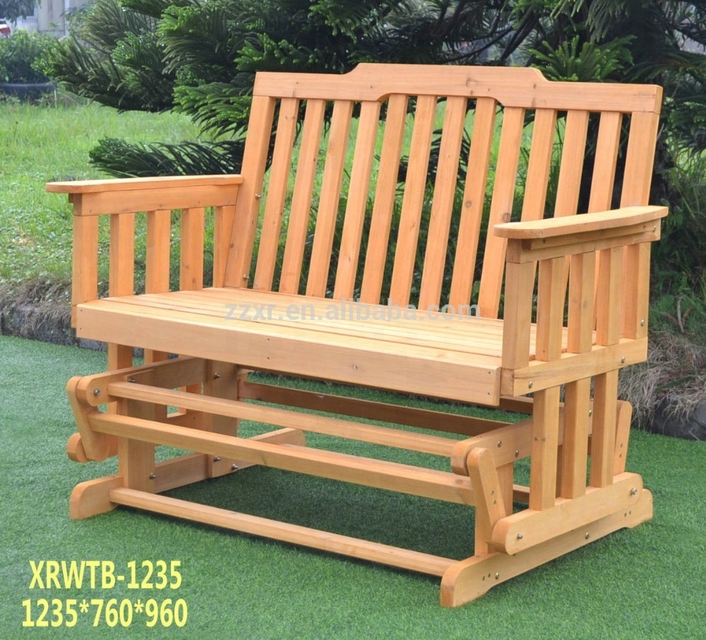 Xrwtb 1235 outdoor double swing glider rocking chair bench