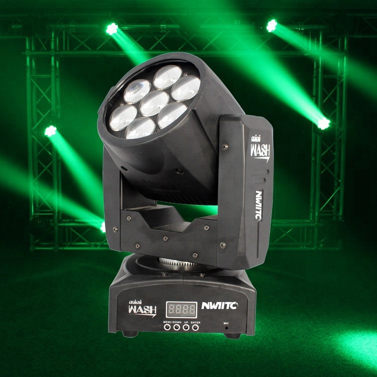 DMX party stage light rgbw 4in1 7x12w zoom wash led moving head