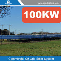 High efficiency 100KW solar power irrigation system include chinese solar panels for sale also with on grid inverter
