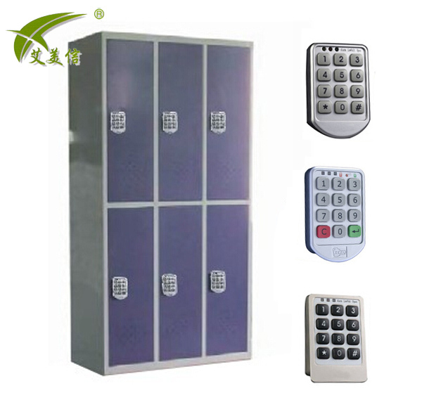 Cheap Steel Locker Electronic Digital Locker Lock 6 Door