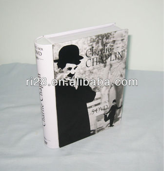 Book shape DVD metal box