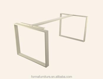 Assommer blanc table de bureau en métal jambes buy blanc pieds