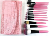 Wholesale private label make up cosmetics pink 15pcs professional makeup brush set