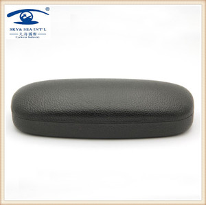 Promotional ready stock folding hard metal eyeglasses case