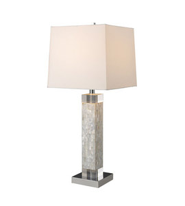 Modern Simple Style Square Mother Of Pearl Shell Table Lamp With American Certification