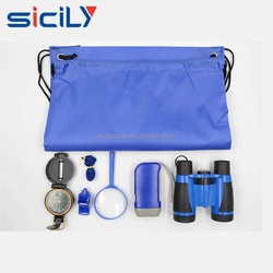Kids Exploration Kit - Children's Outdoor Toy Binocular, Flashlight, Compass, Magnifying Glass, Insect net & Backpack