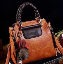 Винтажные Сумки из натуральной кожи, роскошные сумки, женские сумки, дизайнерские сумки от известного бренда, Ретро сумка на плечо, сумка-ме...(Китай)