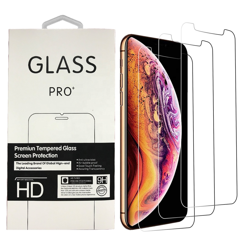 9 H 2.5D Screen Protector Film Gehärtetes Glas Für Iphone X Screen Protector 3 Pack