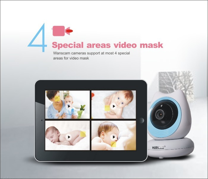 Popular in Exhibition!Baby Camera Android Iphone H.264 Support max 128G TF Card 720P IR-CUT Onvif Robot Wifi Video P2P IP Camera