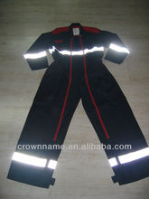 UNISEX'S CONTRAST COLOR COTTON COVERALL WITH 3M REFLECTIVE TAPES