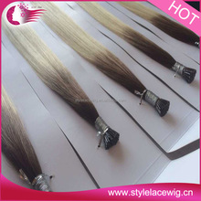 Factory price Double Drawn Curly Nano Ring Virgin Remy Hair Extension