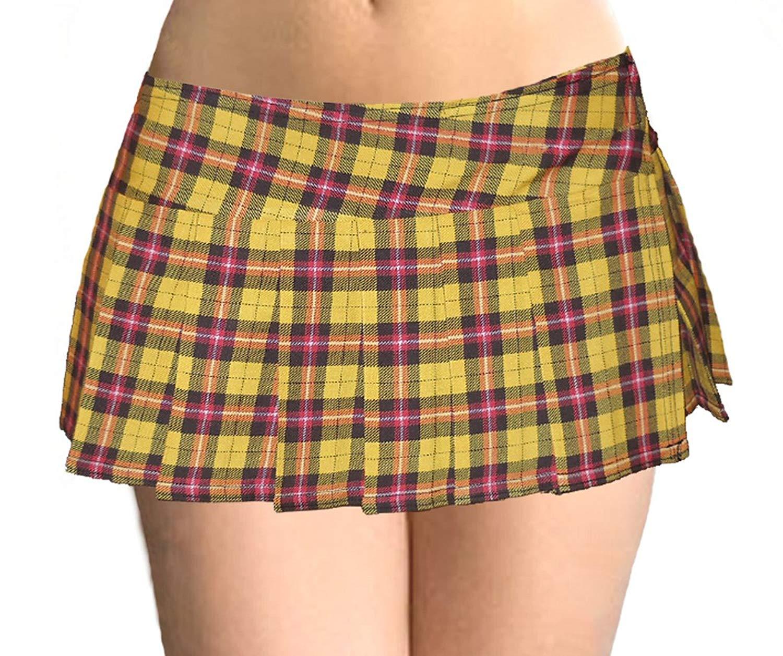 Rimi Hanger Girls Tartan Print Mini Skirt children Ribbon Bow Tie Detail Checked Short Skirt 5-10 Years