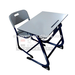 Everpretty education tables chair sets, phenolic compact study tables, single school desk and chair