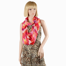 Fashionable Women Voile Scarf Digital Printed Lady's Shawl Dubai Hijab Wholesale HI302 080-3